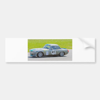 Silver MG racing car Bumper Stickers