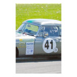 Silver MG racing car Customized Stationery