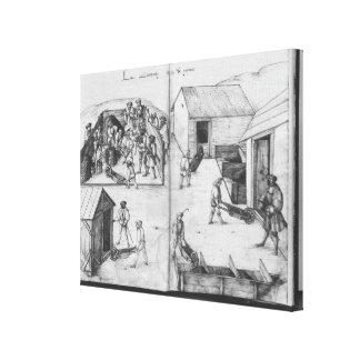 Silver mine of La Croix-aux-Mines, Lorraine Canvas Print