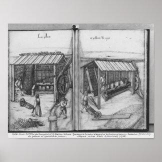 Silver mine of La Croix-aux-Mines, Lorraine Print