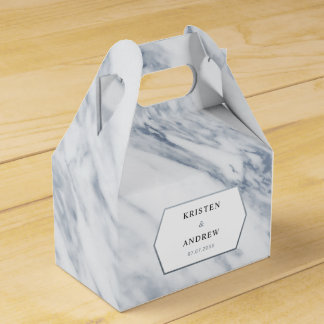 Silver Modern | Marble Wedding Favor Box
