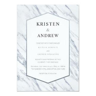 Silver Modern | Marble Wedding Invitation