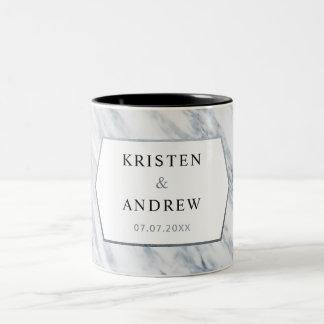 Silver Modern    Marble Wedding Mug