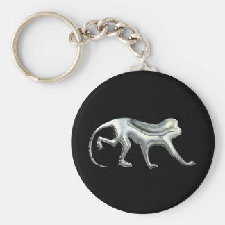 Silver Monkey Key Ring