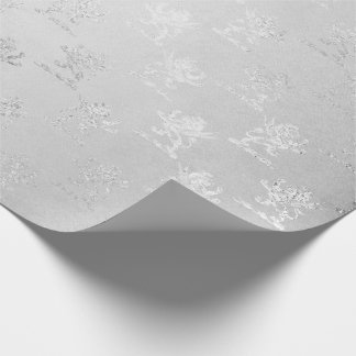 Silver Monochromatic Fairy Gray Vip Lions Wrapping Paper