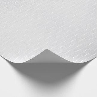 Silver Monochromatic Gray Delicate Drops Stripes Wrapping Paper