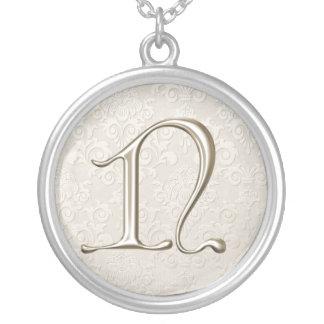 Silver Monogram Necklace - letter N