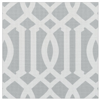 Silver Moroccan Pattern | Fabric