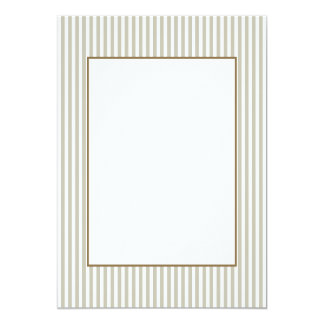 Silver Moss And White Cabana Stripe Pattern 13 Cm X 18 Cm Invitation Card