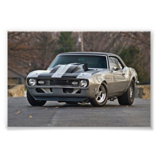 Silver Muscle car Art Photo