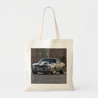 Silver Muscle car Budget Tote Bag