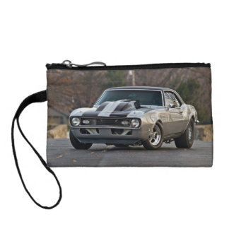 Silver Muscle car Coin Wallets