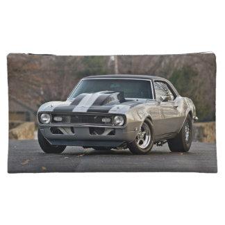 Silver Muscle car Makeup Bag