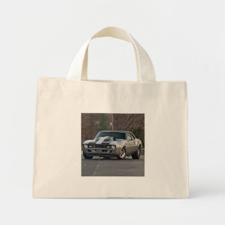 Silver Muscle car Mini Tote Bag