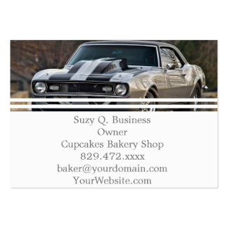 Silver Muscle car Pack Of Chubby Business Cards