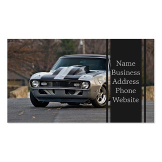 Silver Muscle car Pack Of Standard Business Cards