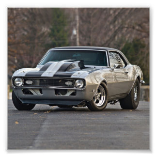 Silver Muscle car Photo Print