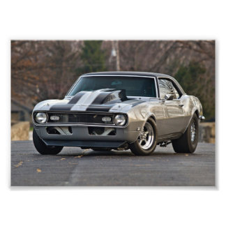 Silver Muscle car Photographic Print