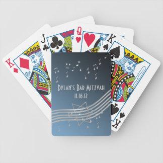 Silver Music Bar Mitzvah Bicycle Playing Cards