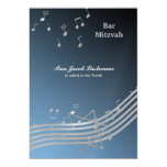 Silver Music in the air 13 Cm X 18 Cm Invitation Card