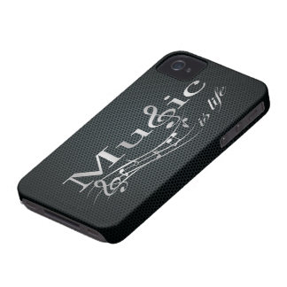 Silver Music is Life with Metal Mesh iPhone 4 Cases