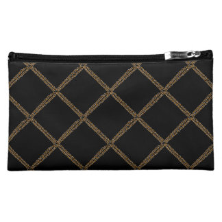 Silver N Gold Chains Med. Cosmetic Bag