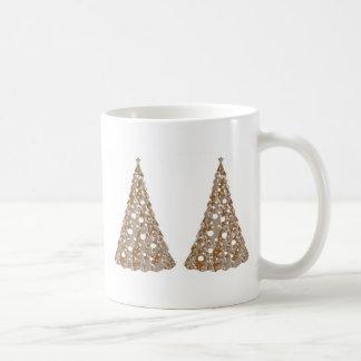 Silver n Gold Engraved LightShow Trees Basic White Mug