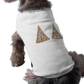 Silver n Gold Engraved LightShow Trees Sleeveless Dog Shirt