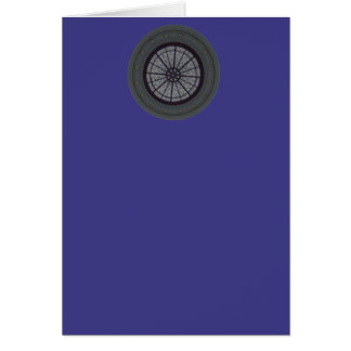 Silver & Navy Modern Blank Note Greeting Card