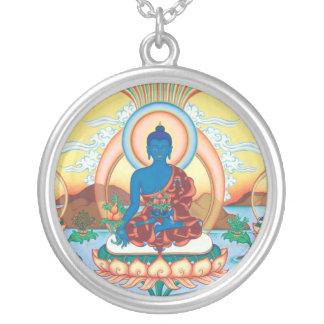 SILVER NECKLACE PENDANT Medicine Buddha