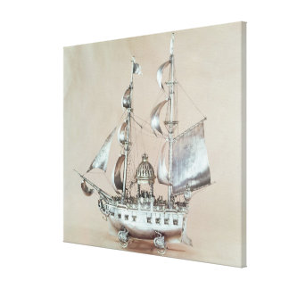 Silver Nef Stretched Canvas Prints