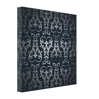 Silver Ornate Illustrations Gallery Wrapped Canvas