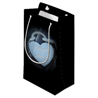Silver Padlock Lovers Specialized Overlay Small Gift Bag