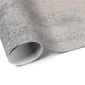 Silver Paint Industrial Cement Gray Rose Gold Wrapping Paper