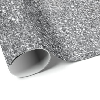 Silver  Pard Glitter Shiny Glass Vip Wrapping Paper