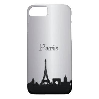 Silver Paris Silhouette Phone & Ipad Cases