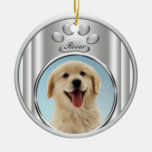 Silver Paw Dog or Cat Photo Frame Ornament