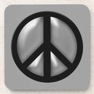 Silver Peace Coasters