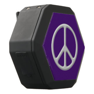 Silver Peace Symbol Digital Art Premium Speaker