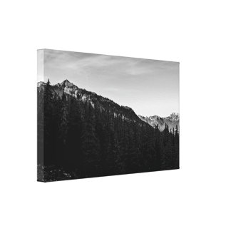 Silver Peak Black and White Gallery Wrapped Canvas