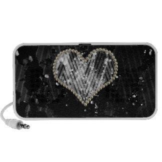Silver Pearl Heart Travel Speaker