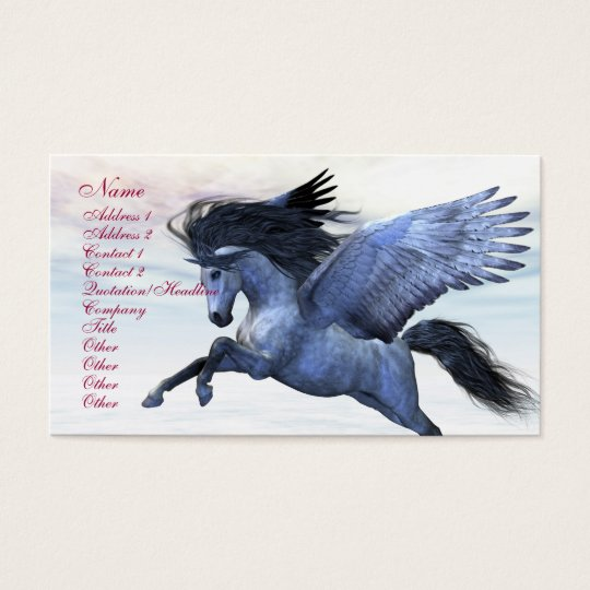SILVER PEGASUS BUSINESS CARD
