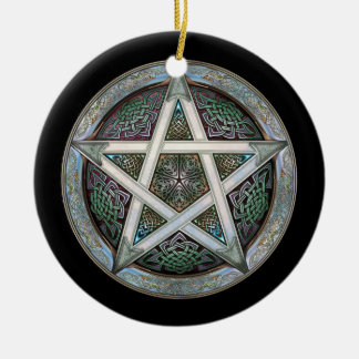Silver Pentacle Pendant/Ornament Christmas Ornament