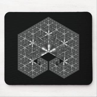 silver pentagram mouse pad