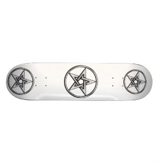 Silver Pentagram Skateboard