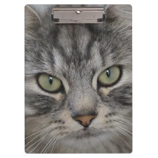 Silver Persian Cat Face Clipboard