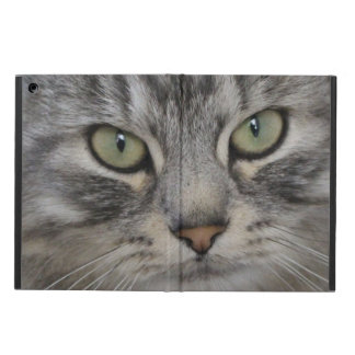 Silver Persian Cat Face iPad Cover