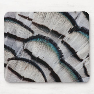 Silver Pheasant Feather Design Mouse Mat