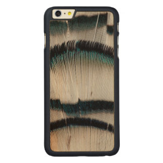 Silver Pheasant feathers Carved Maple iPhone 6 Plus Case