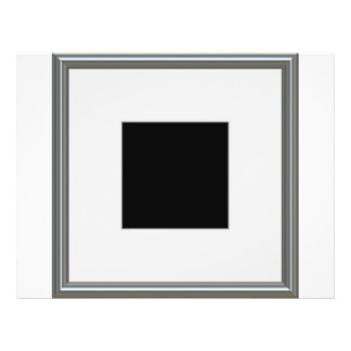 silver picture frame layout 21.5 cm x 28 cm flyer